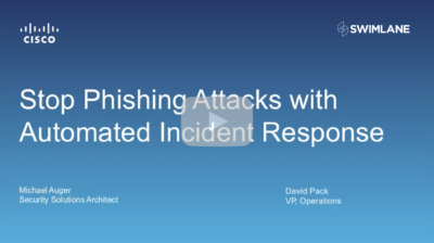 Cisco: Stop Phishing Attacks with Automated Incident Response (58:34)