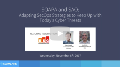 SOAPA and SAO: Adapting SecOps Strategies for Today's Cyber Threats (51:30)