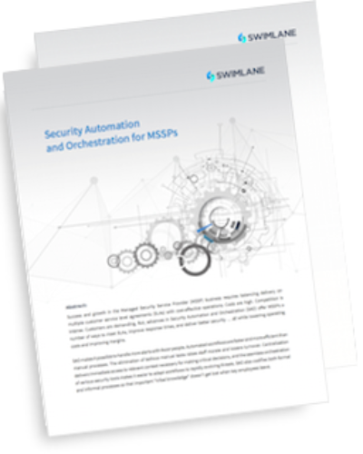 MSSP Security Automation and Orchestration e-book
